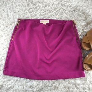 MICHAEL KORS- SIDE ZIPPER MINI SKIRT